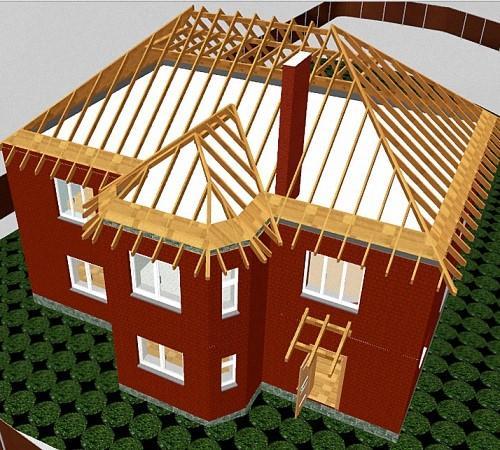 Вальмовая крыша дома своими руками