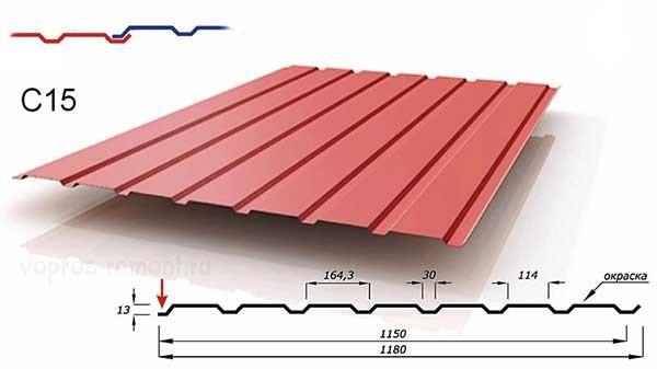 Профнастил C15 - оптимальный вариант для строительства забора