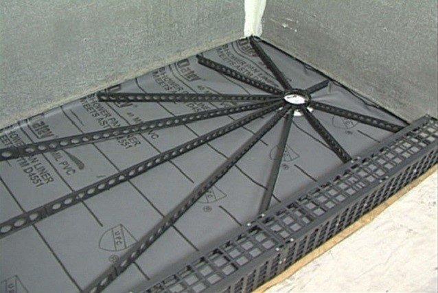 Металлический профиль для устройства поддона из плитки