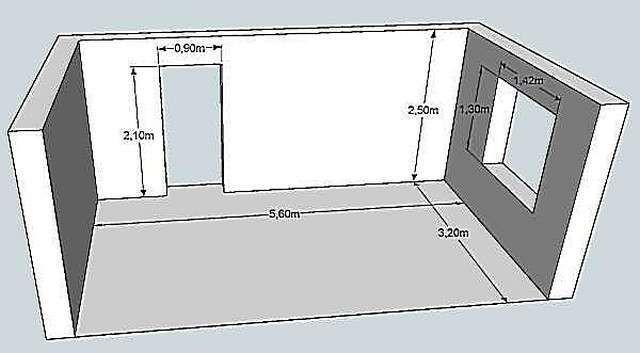 План комнаты 3д