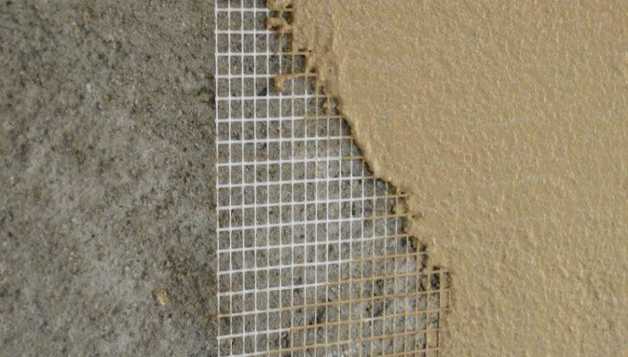 Сетка между слоями при выравнивании стен