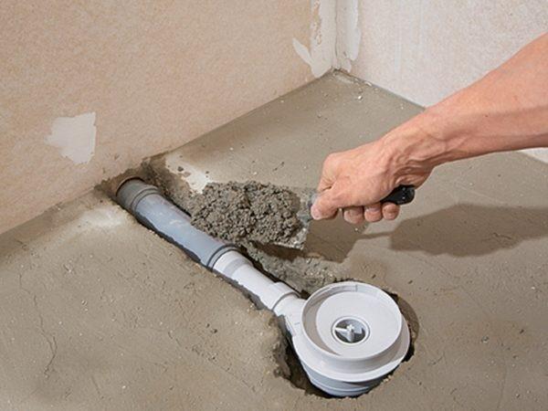 Укладка цементно-песчаной смеси