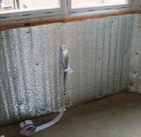 Фольгирование балкона