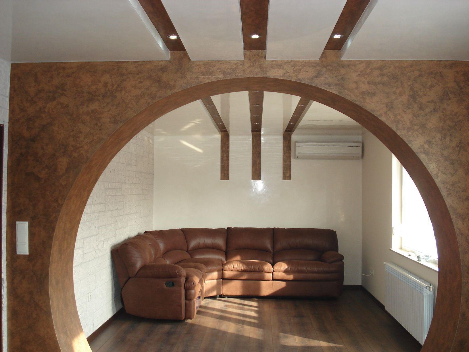 Криволинейная арка из гипсокартона