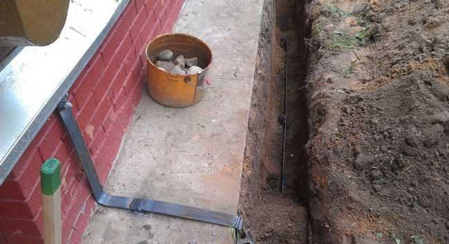 Прокладка провода заземления