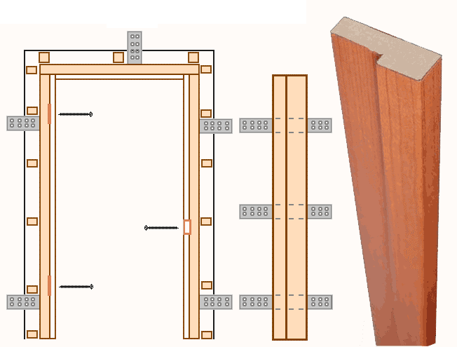 Схема крепления дверного короба