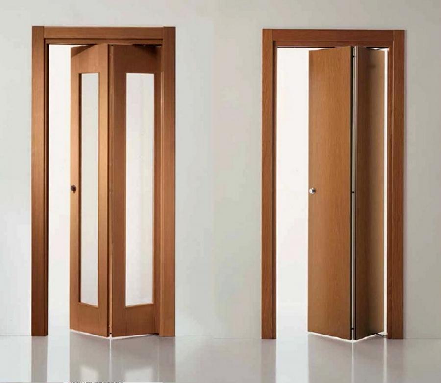 Складная дверь гармошка в ванную