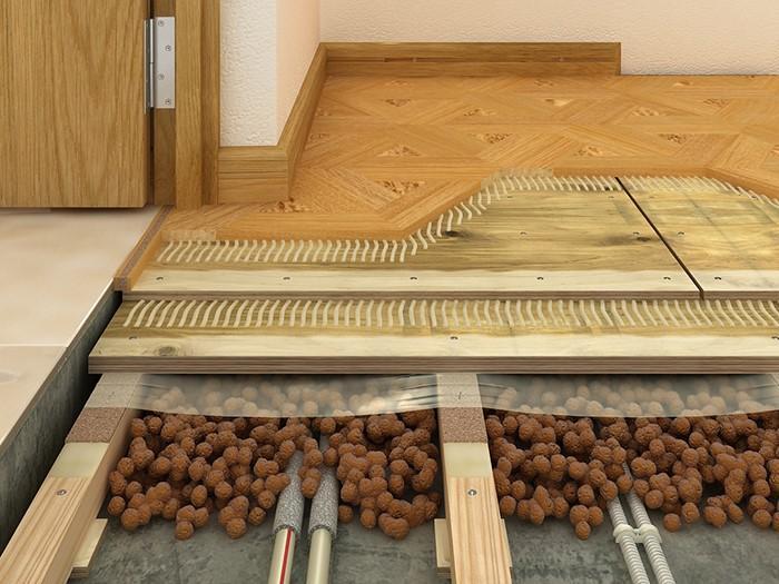 Стык ламината и плитки при устройстве «теплого пола»