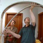 Зашивка криволинейной части арки