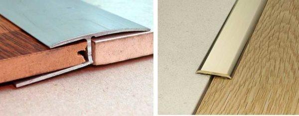 Жесткие порожки для стыка ламината и плитки