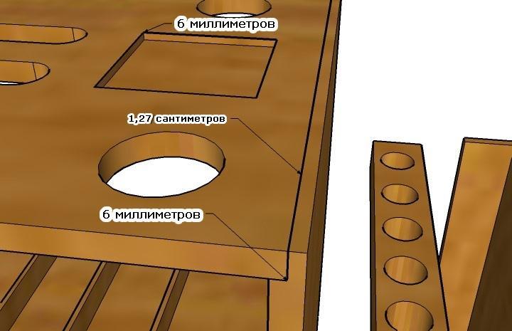 Чертежи соединения деталей ящика