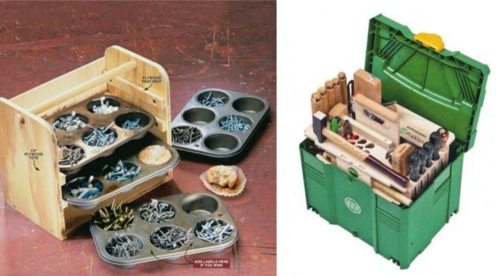 Ящик для инструментов с выдвижными отсеками