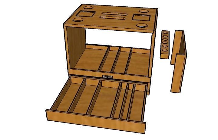 Эскиз переносного ящика