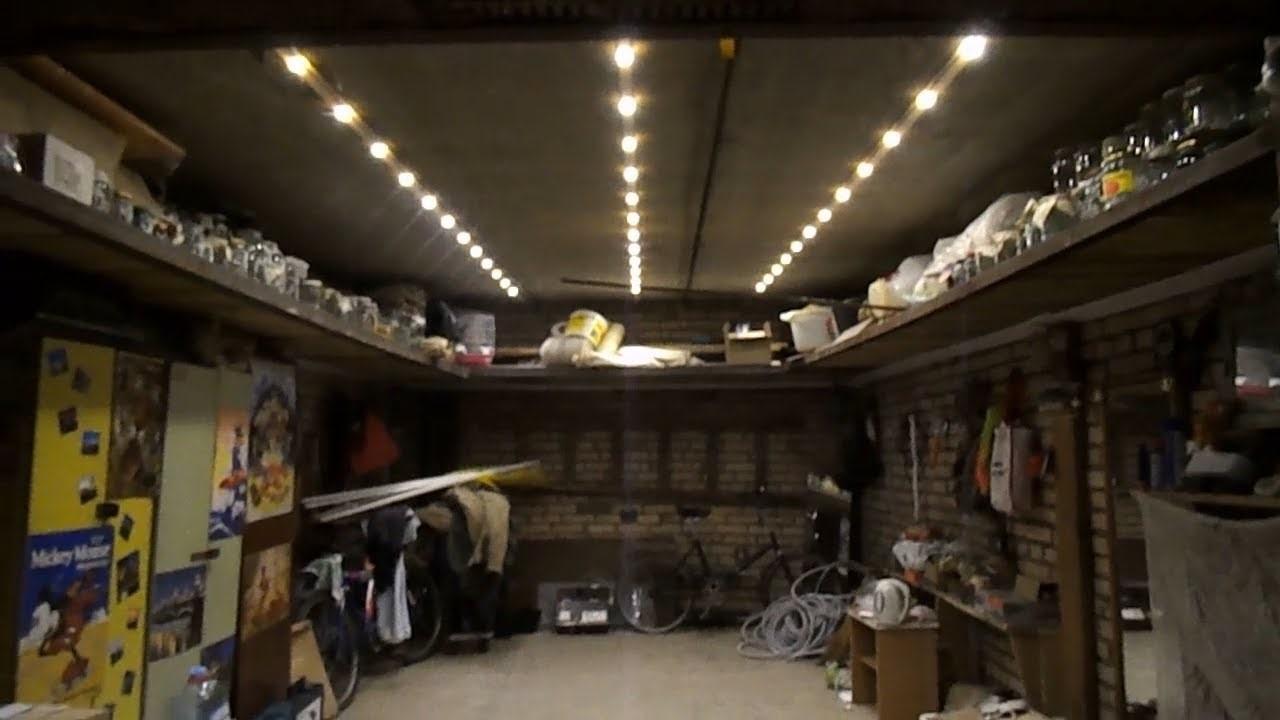 Освещение в гараже светодиодными лентами