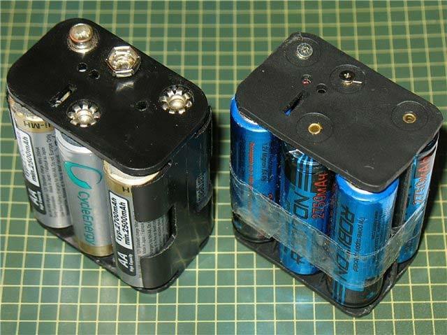 Подключение ленты к несколькоим батарейкам