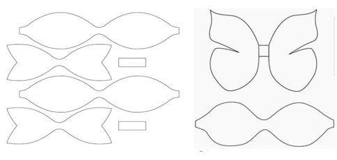 Шаблон банты из бумаги