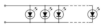 Схема подключения диодов гирлянды