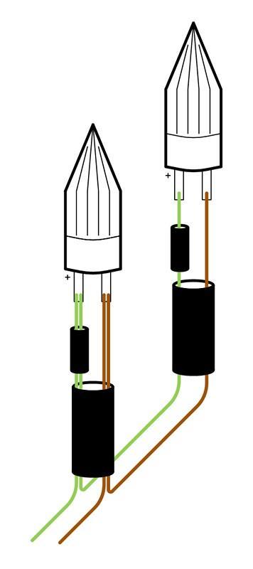 Схема подключения гирлянды