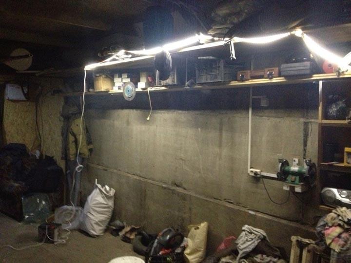 Светодиодная лента в гараже