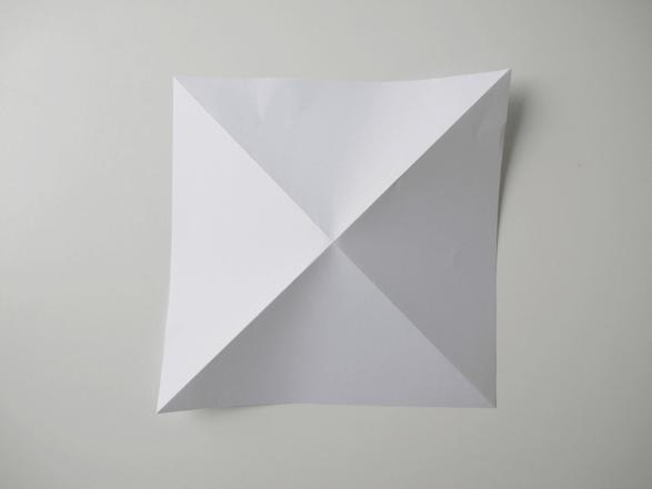 Вот так выглядит развернутый лист с двумя сгибами