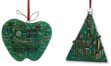 Елочные игрушки из микросхем