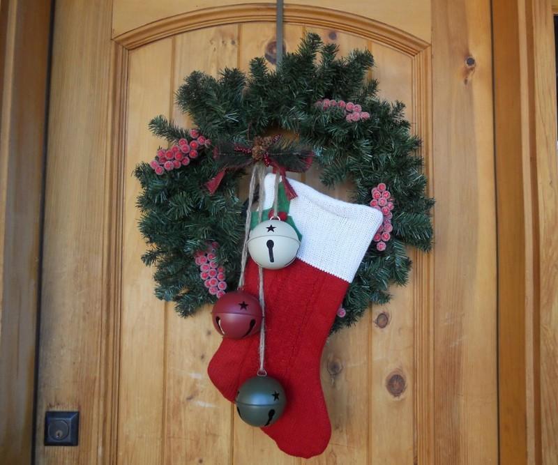 Новогодний носок на дверь