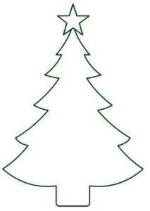 Новогодний шаблон на окна из бумаги елка