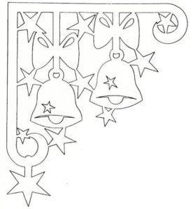 Новогодний шаблон звезды угловой