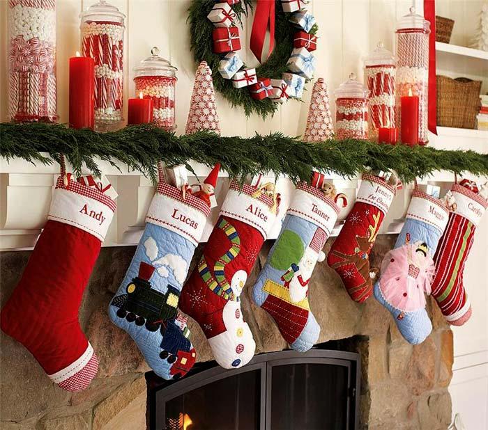 Сладости с именами на Рождество