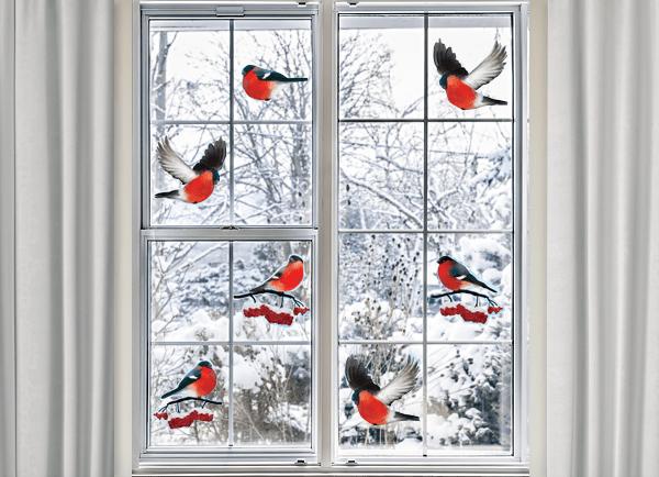 Снегири на окнах