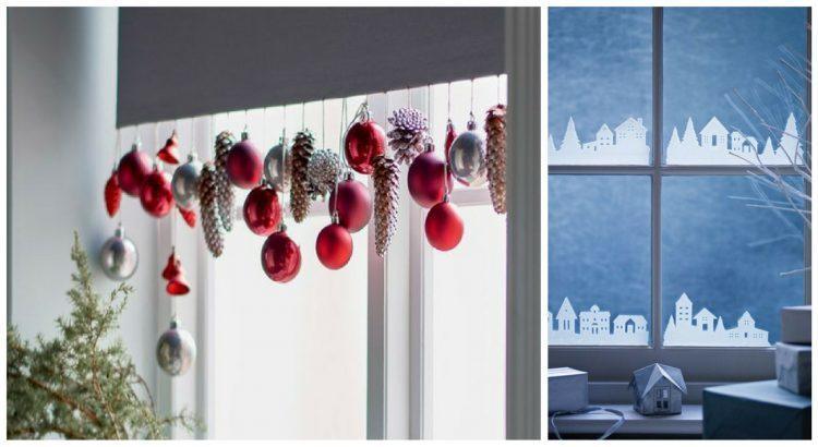 Варианты новогоднего декора окна