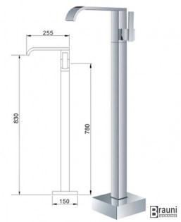 Высота напольного смесителя