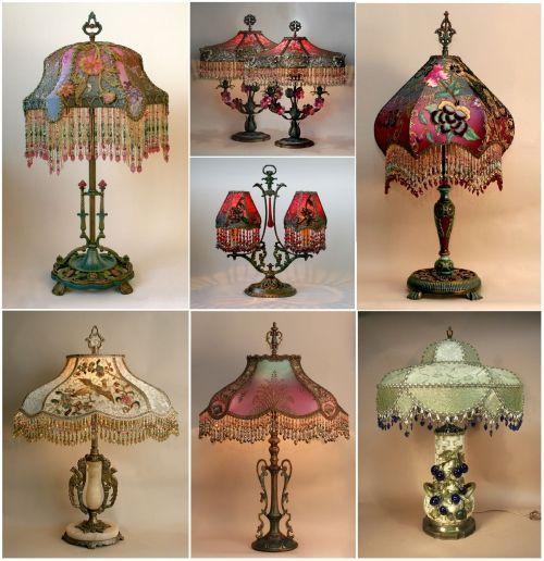 абажуры настольные лампы