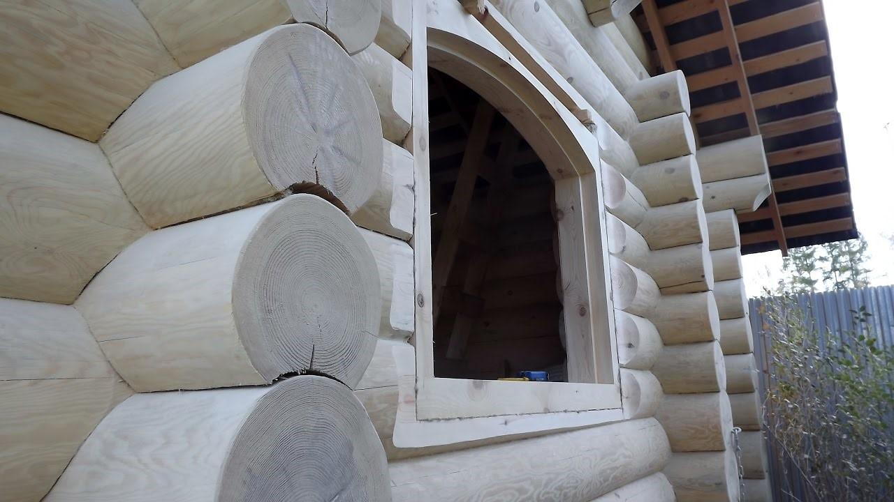 Окосячка окон и дверей в деревянном доме - установка своими руками