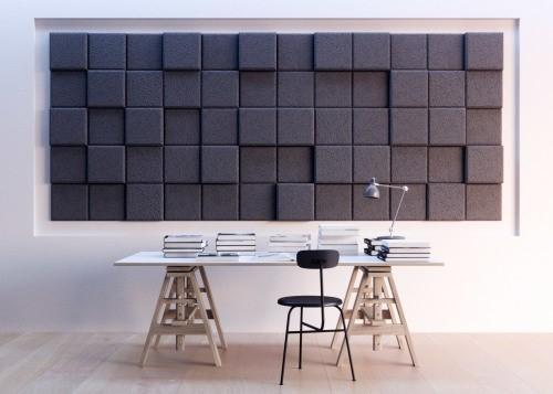 Отделка стен акустическими панелями