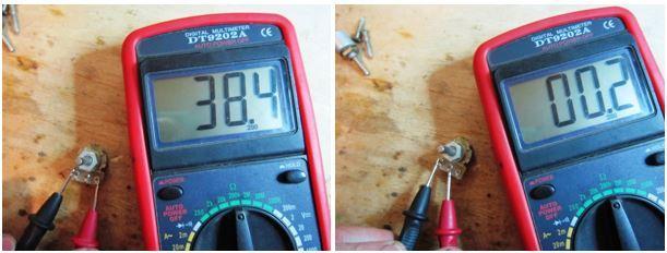 Измерение переменного сопротивления резисторов