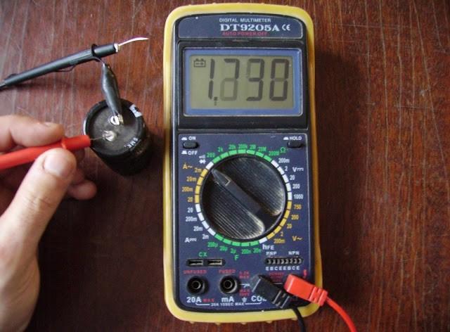 Емкость конденсатора мультиметром