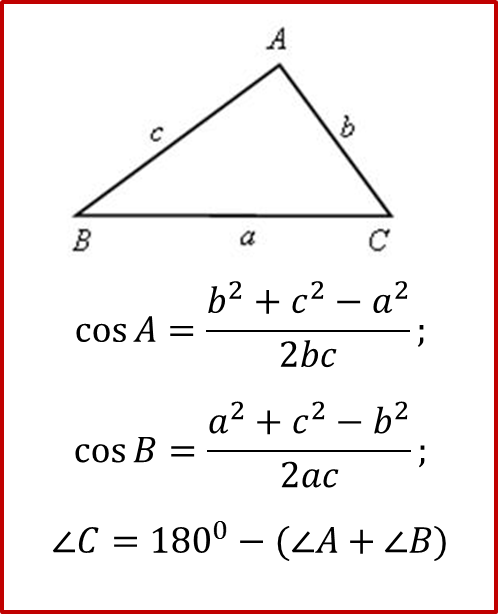 Формула углов треугольинка