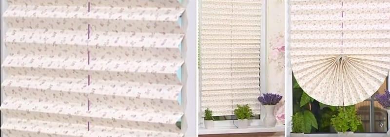 Готовая рулонная штора из обоев