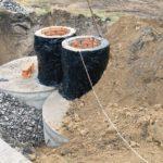 Обмазочный вариант изоляции бетонных колец для канализации