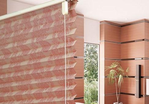 Плиссированные рулонные шторы