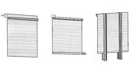 Схема раскрывания рулонной шторы
