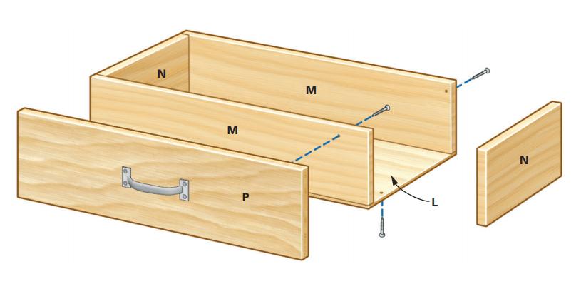 Схема выдвижного ящика