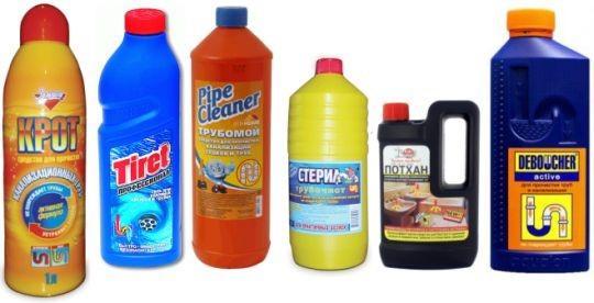 Средства прочистки канализации