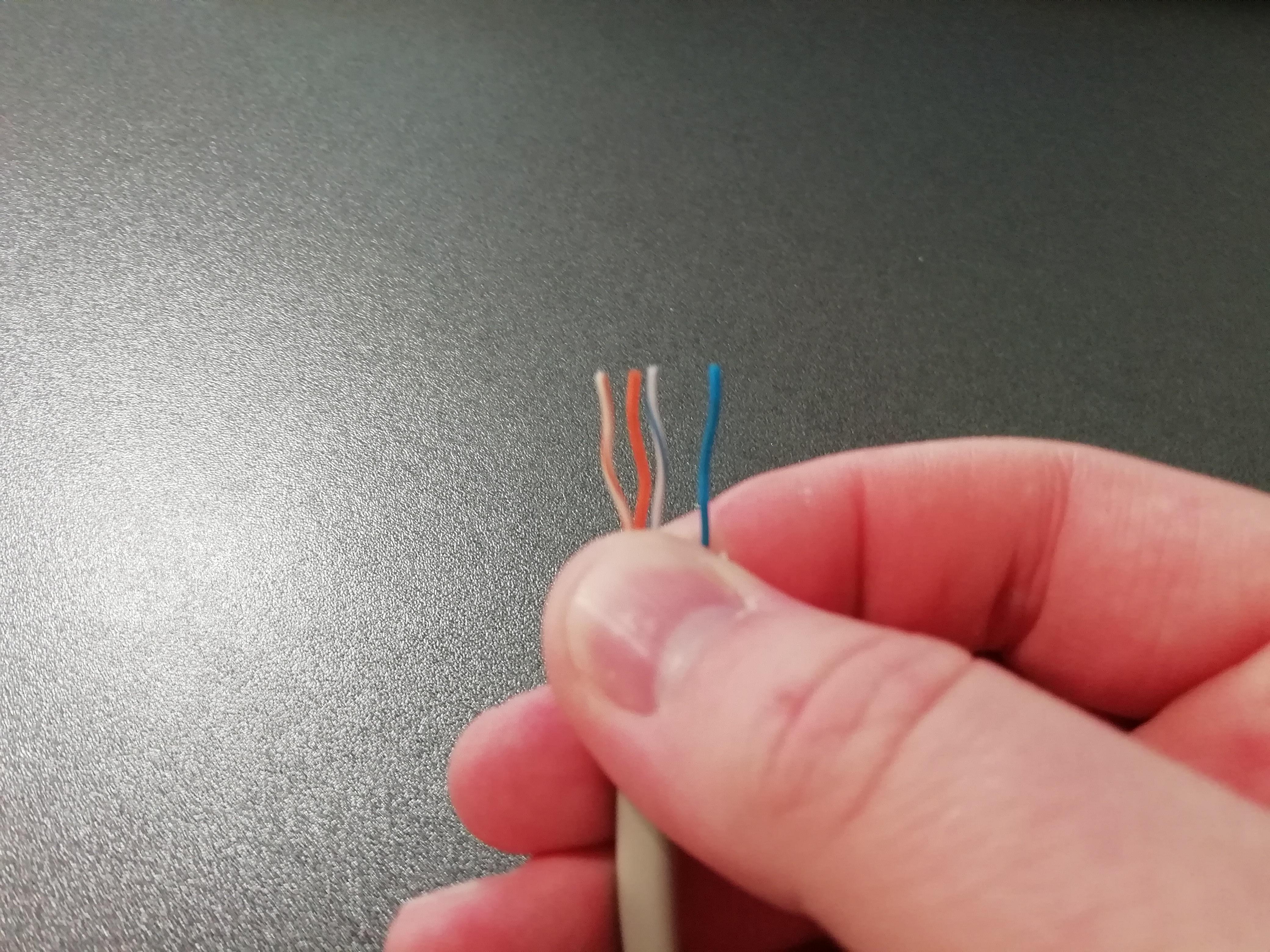 Порядок проводов 4-х жильного интернет кабеля