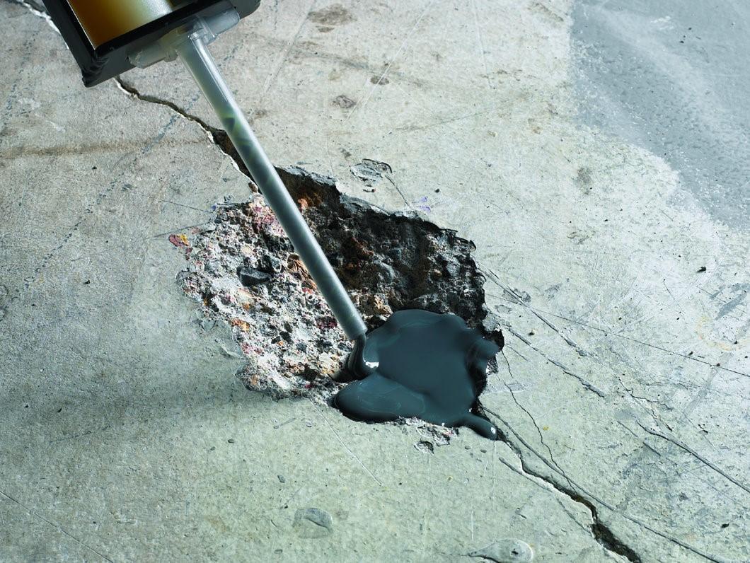 Удаление трещины в бетоне