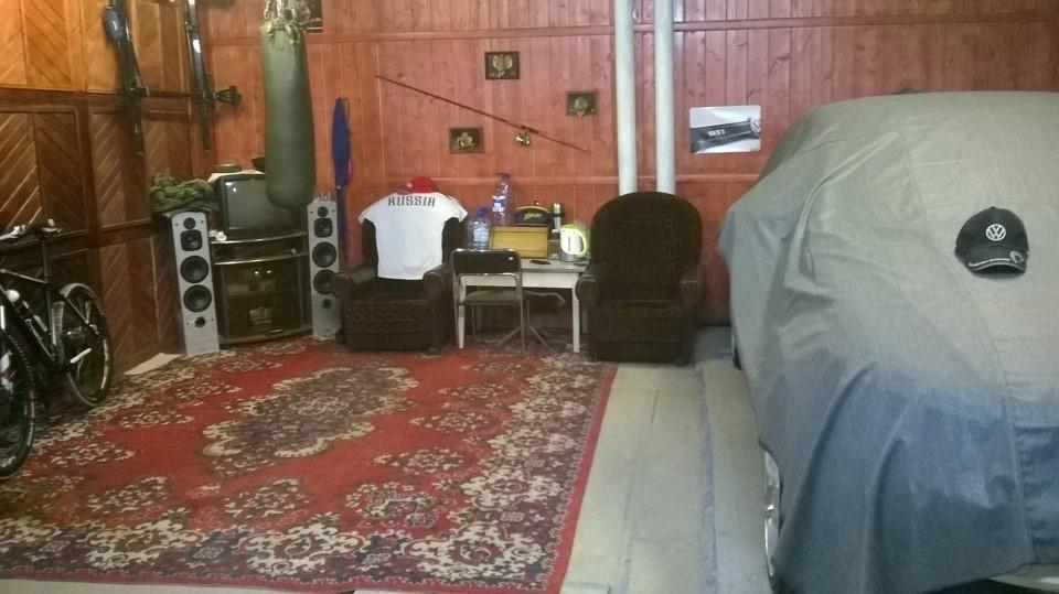 Уютный уголок в гараже