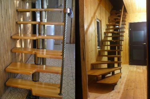 Варианты лестницы на чердак