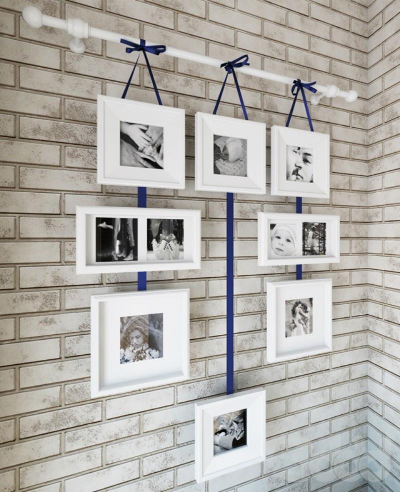 Гибкий подвес для картин на стене