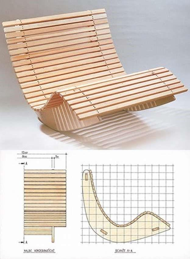 Качели - кресло качалка чертеж
